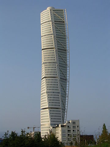 Turning Torso 3 by Väsk - Own work. Licensed under CC BY-SA 3.0 via Wikimedia Commons